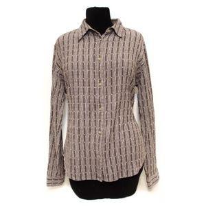 Columbia Women's Striped Wrinkled Shirt Large